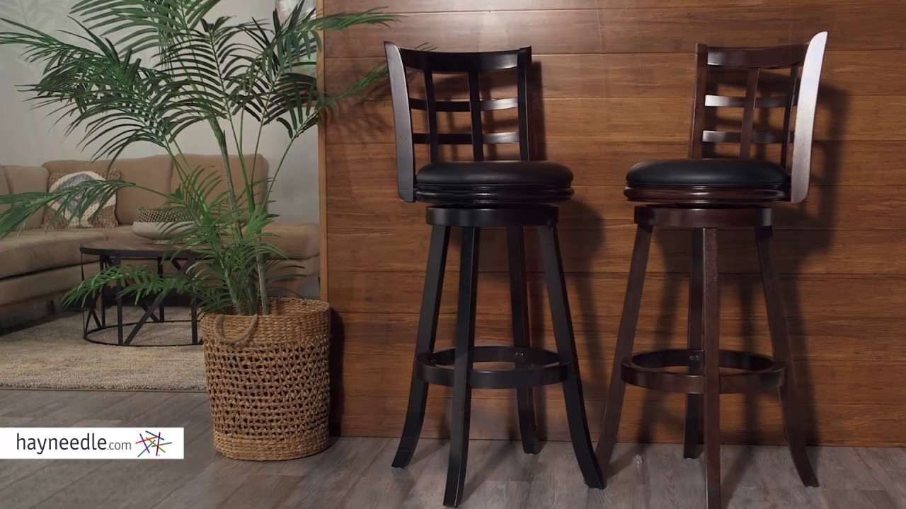 Boraam Kyoto 34 In Extra Tall Swivel Bar Stool Product Review Video