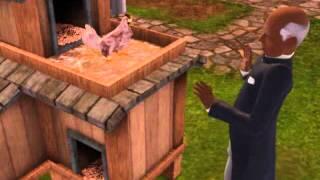 les sims 3 , dispute avec charlie le poulet