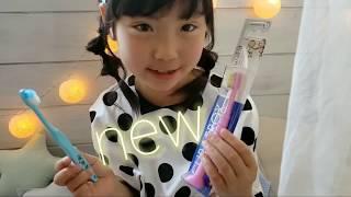 curaproxjapan 様の 子供用歯ブラシ使ってみたよ♡ 形も可愛い!歯ブラシ