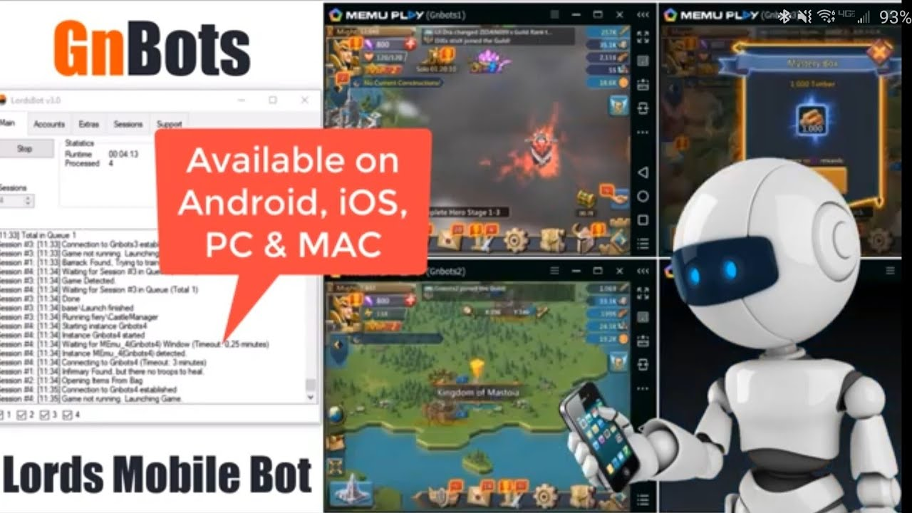 Lords Mobile Auto Farm Bot & Cheats | LordsBot v3 0