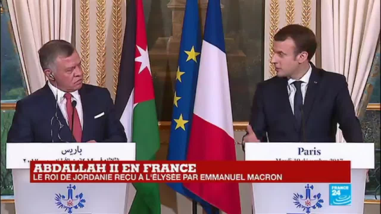 Emmanuel À Macron Abdallah Reçu Replay Ii Jordanie Le Par L''élysée Roi De 7vbyf6gY