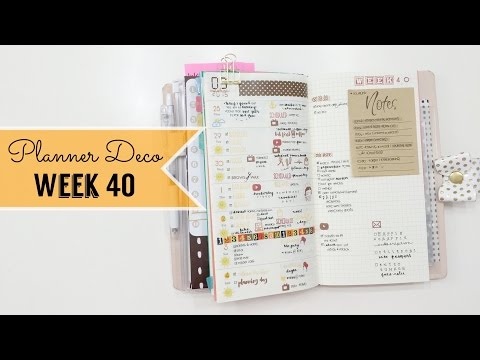 Planner Deco Week 40 & Turn Out