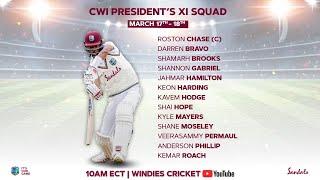 🔴 LIVE   West Indies President's XI vs Sri Lanka   Day 1