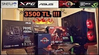 TOPLAMA BİLGİSAYAR HAZIR SİSTEM SİNERJİ BİLGİSAYAR 3500TL !!! toplama bilgisayar !!! sistem toplama