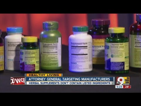 Attorney General targeting herbal supplement manufacturers