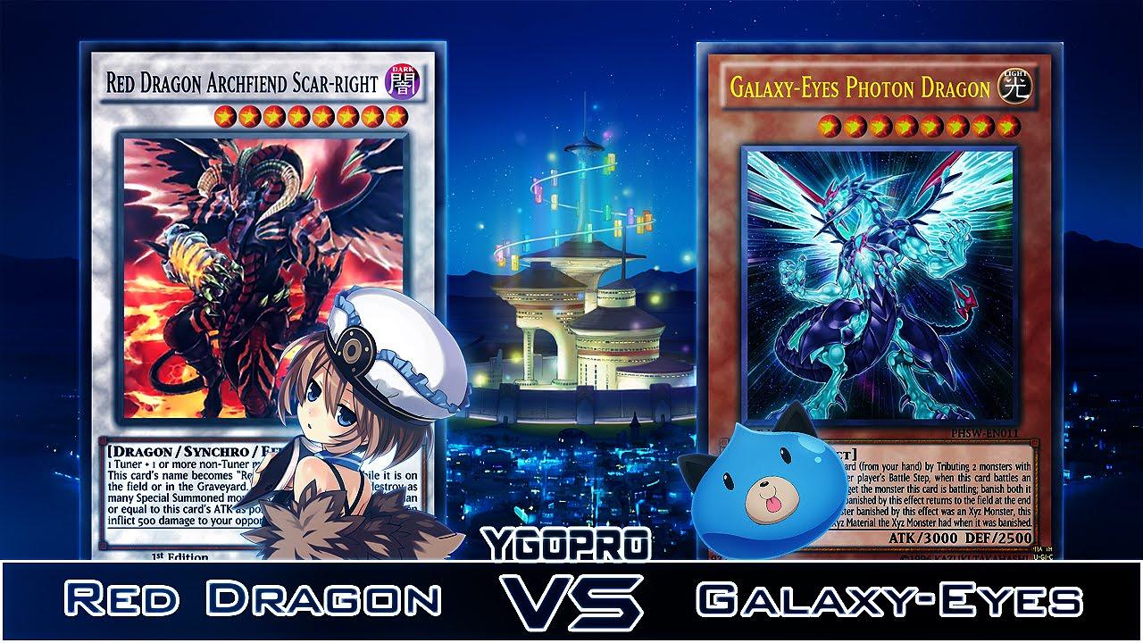 c2b37a34fd351 YGOPRO (Replay): RANDOM - Red Dragon VS Galaxy-Eyes. by Ex - Cham