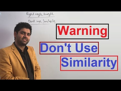 Geometry Part 20 - No Use Of Similarty In Right Angle Triangle - By Abhinay Sharma ( Abhinay Maths)