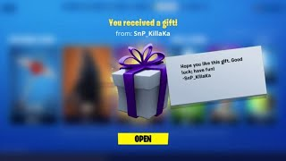 Fortnite: Gifts/ nBKg gets a special surprise | #sk8NPLay #nBKg