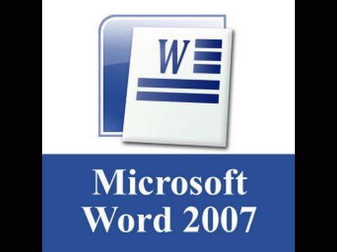 Microsoft office word 2007?