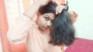 Haircut in Layers at Home in 5 mins#Tamil# DIY Layer Haircut in 5 mins#Ponytail Technique