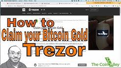 Tutorial: Claim your Bitcoin Gold BTG - Trezor