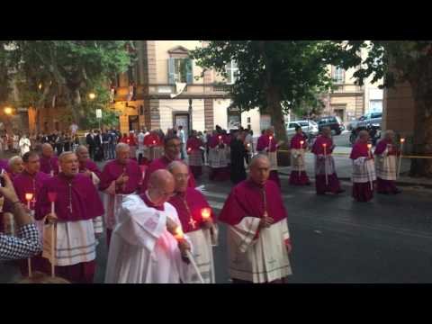 Cardinals and Bishops Corpus Christi Procession in Rome 2017