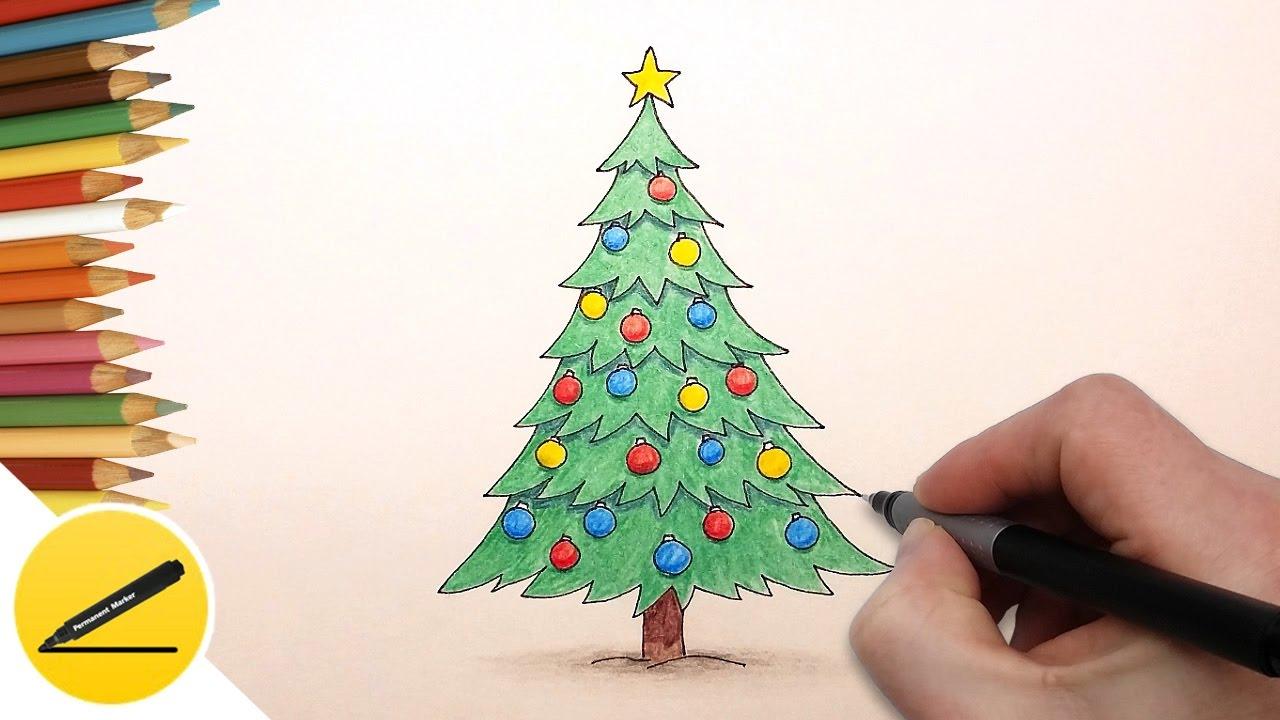 Что нарисовать в открытке на новый год легко