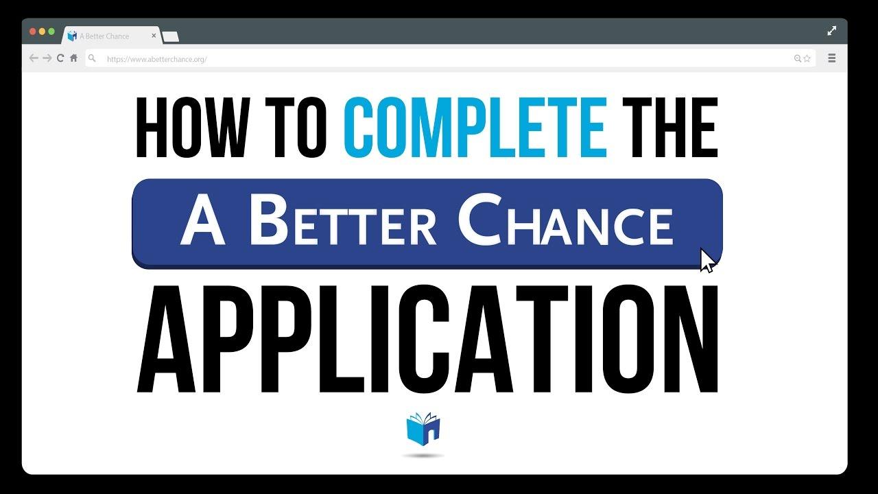 a better chance application login