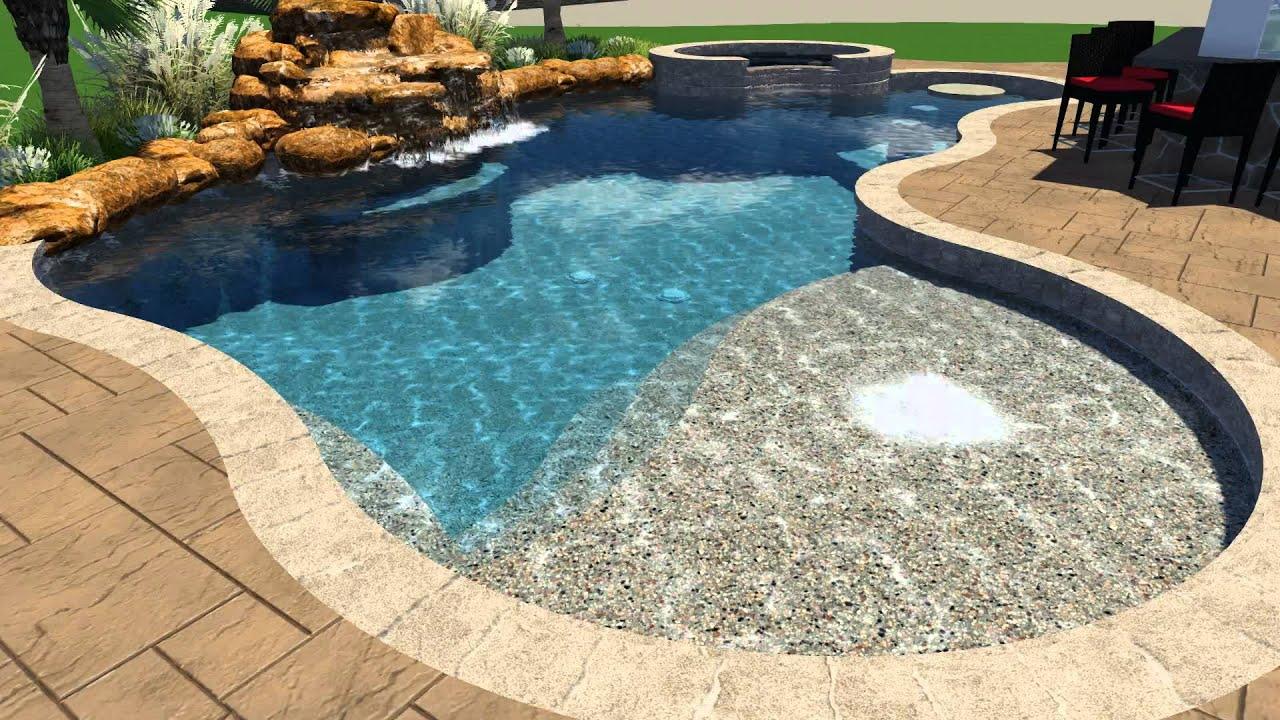 clift pool design v2 by backyard amenities youtube