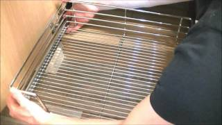 High Line Kitchen Pull Out Wire Basket Drawer - Installation Video From Buller Ltd