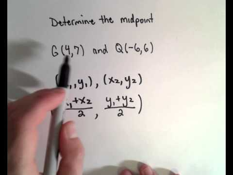 Midpoint of Two Points - Another Example