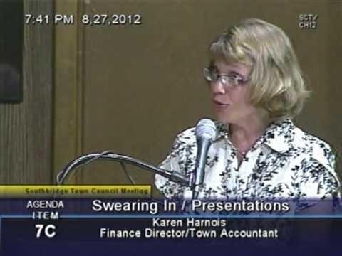 Department Head Presentation - Town Accountant - Karen Harnois 8/27/2012