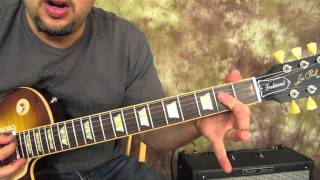 Kiss - Rock and Roll all Nite and Party Every Day - Rock Guitar Lesson - Les Paul