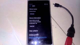 Lumia 830 - OTG cable test