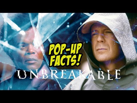 Pop-Up Movie Facts: Unbreakable (2000) M. Night Shyamalan, Bruce Willis