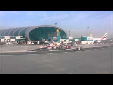 Dubai Airport - A380 Pushback, Taxi and Takeoff - Timelapse
