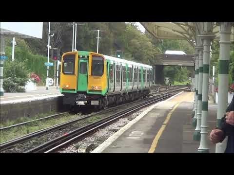 Trains at Hove Station, 29th September 2017