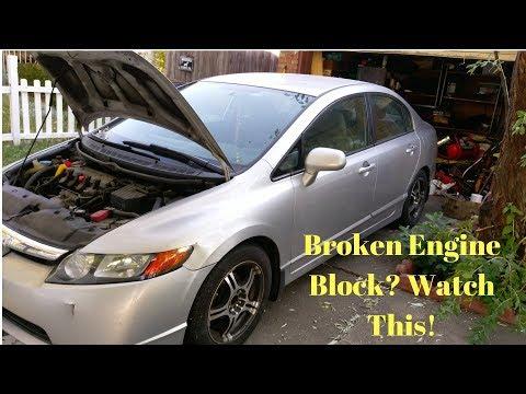 2006 Honda Civic Cracked Engine Block Repair