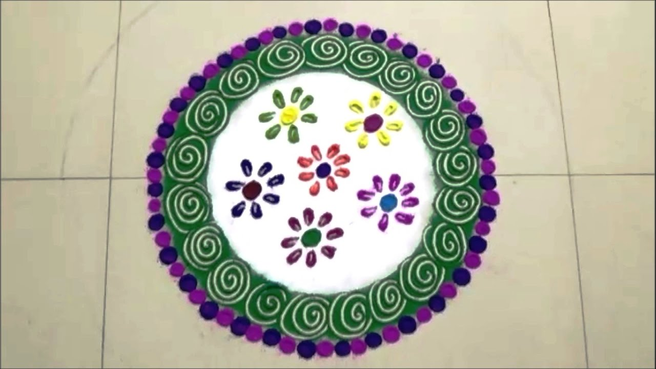 Nice Rangoli Design For Home Gallery - Home Decorating Ideas ...