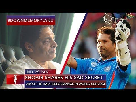 Shoaib's Sad Secret | Pakistan vs India ICC World Cup 2003 | Shoaib Akhtar
