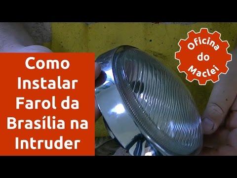 Como Instalar Farol de Brasília na Suzuki Intruder