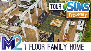 Sims FreePlay 1 Floor Family Home Original Design YouTube