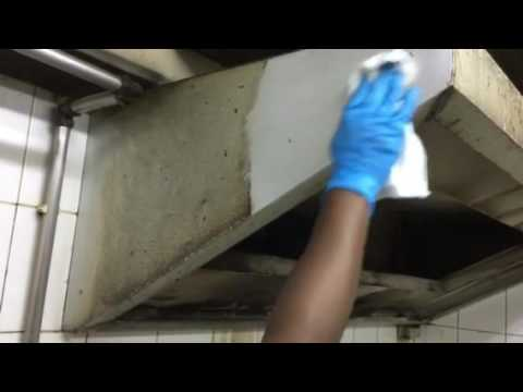SPRAY & WIPE (SKG) solution cleaning of Kitchen Hoods oily stains