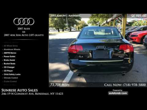 Used 2007 Audi A4 | Sunrise Auto Sales, Rosedale, NY - SOLD