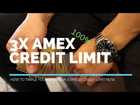How To TRIPLE Your AMEX Credit Limit