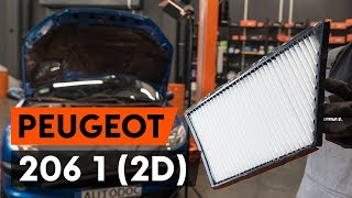 How to change Air conditioner filter on PEUGEOT 206 CC (2D) - online free video