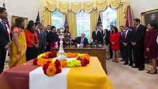 Trump celebrates diwali 2017 || president trump celebrates hindu festival  Diwali in USA