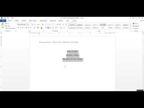2017 APA FORMAT FOR WORD DOCS