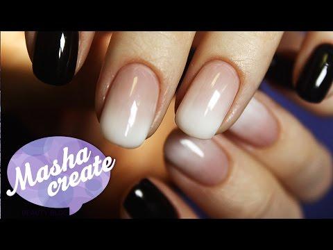 Как сделать омбре на ногтях гель лаком в домашних