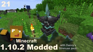 Modded 1.10.2 - E21 - Will Crystals & Lava/Obsidian Automation