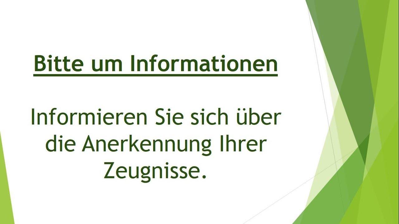 Bitte Um Informationen Schriftliche Prüfung B2 Youtube