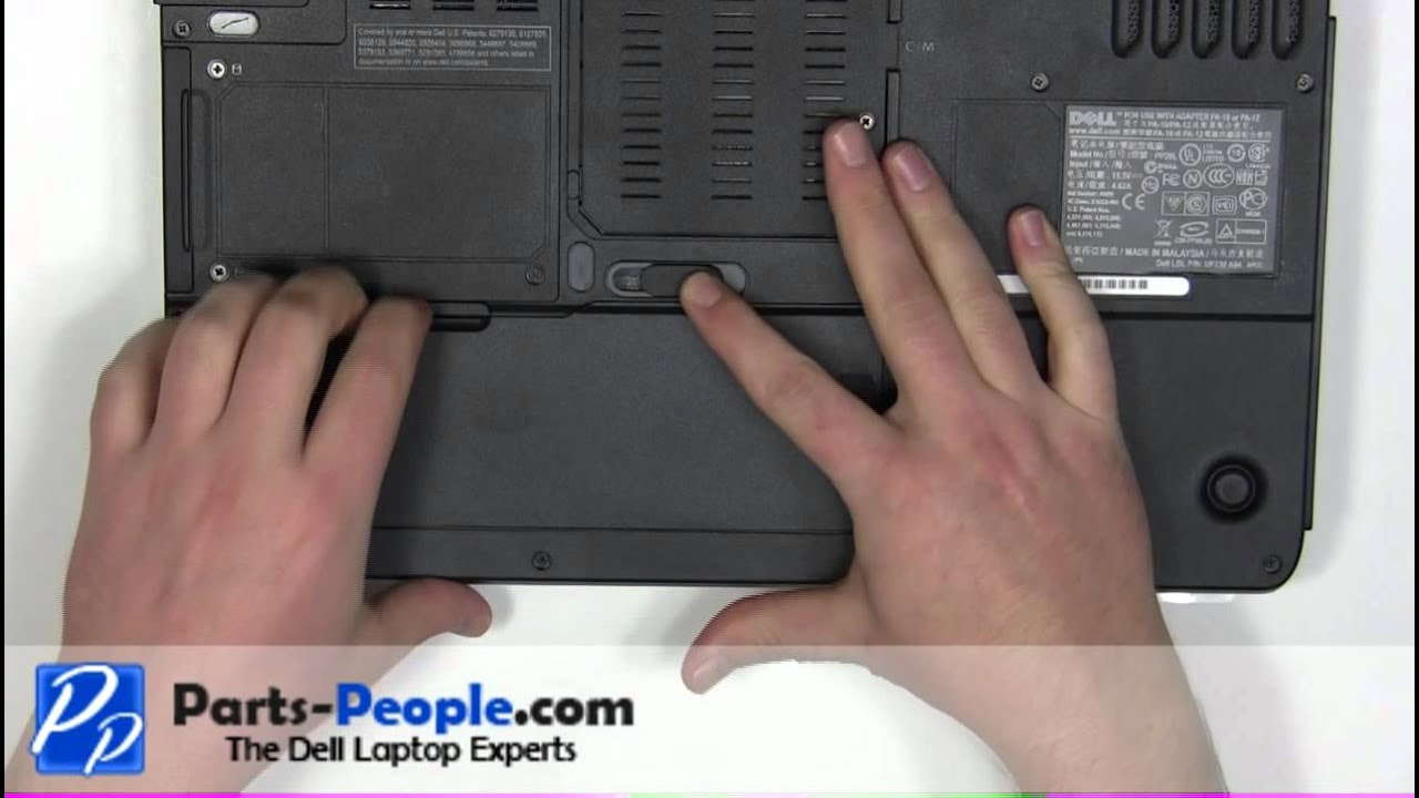 Dell Inspiron 6400 E1505 Battery Removal and Installation