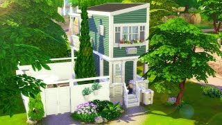 Vertical Tiny Home // Sims 4 Speed Build