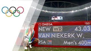 Wayde van Niekerk breaks 400m world record to win gold