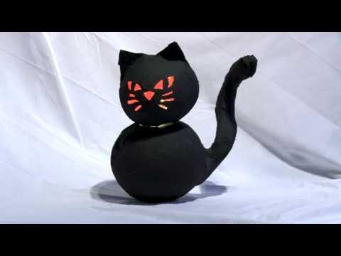 Cat O'Lantern - Halloween DIY