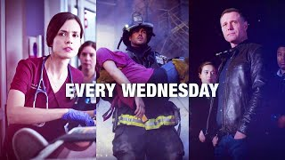 """Chicago Wednesdays """"Together on One Night"""" Promo - Chicago Med, Chicago Fire, Chicago PD (HD)"""