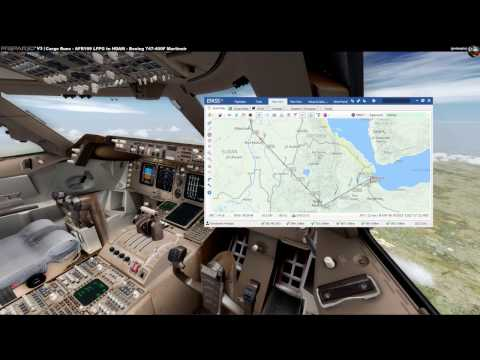 Cargo Runs: AFR199 Heavy LFPG-HDAM (PMDG 744BCF Martinair Cargo) - Part 3 of 3 Approach [English]