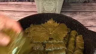 Долма. Голубцы с виноградными листьями. Очннь вкусные голубцы.. рецепт в описании👇👇