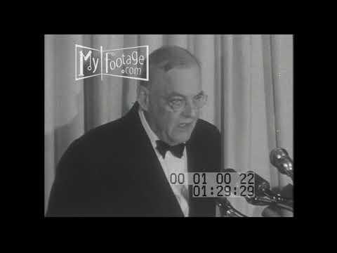 1950s US Secretary of State John Foster Dulles| Washington Black Tie  Stock Footage HD