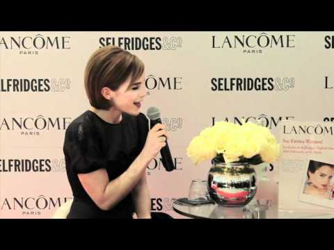 Emma Watson launches her Lancôme Rouge in Love collection at Selfridges